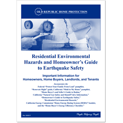 Residential Environmental Hazards and Homeowner's Guide to Earthquake Safety book