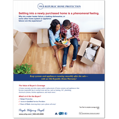 Flyer to help explain the importance of a home warranty to home buyers