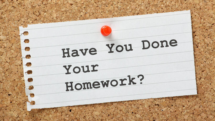 Homework for real estate agents