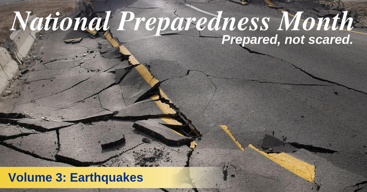 Stay safe during earthquakes