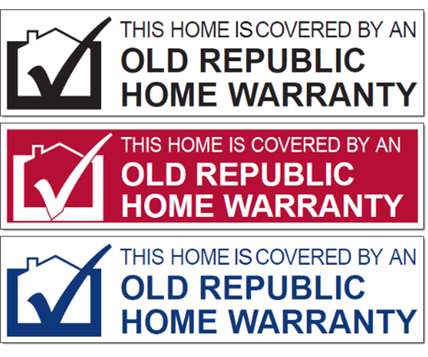 Examples of Old Republic Home Protection sign riders